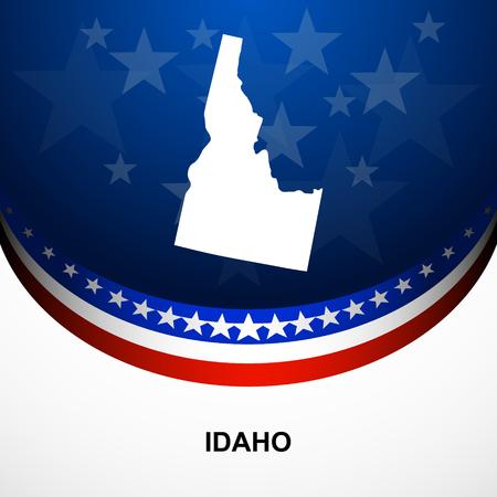 idaho: Idaho map vector background Illustration