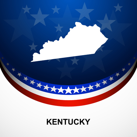 Kentucky map vintage vector background