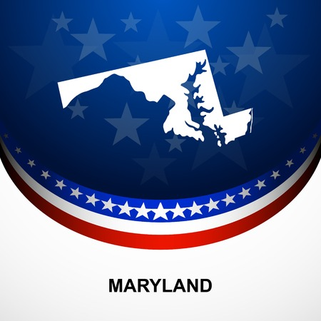Maryland Map Vector Background Royalty Free Cliparts Vectors And