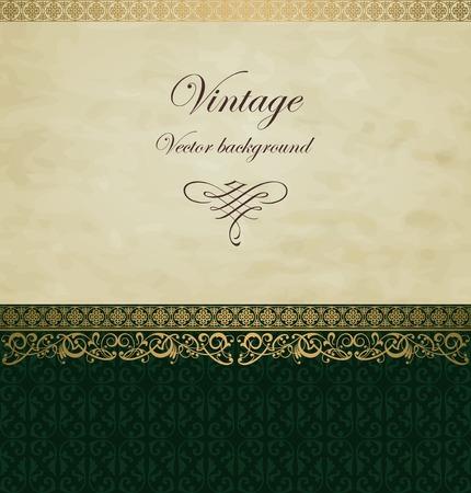 ornate background: Vintage vector background Illustration