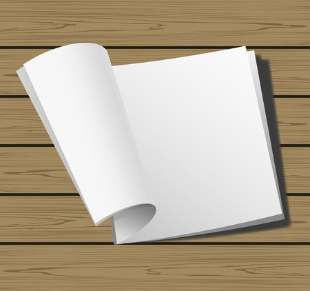 unfolded: Open page magazine for design arrangement