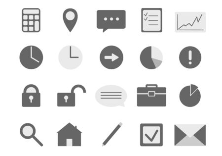 Set of business icons for presentation and info graphics