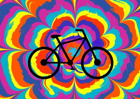 Colorful illustration for the Bicycle Day. Vector illustration