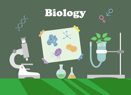 Poster to illustrate a biology lesson. Vector illustration.