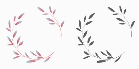 A wreath of leaves. Vector illustration.