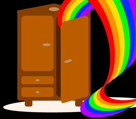 coming out: Coming out of the closet