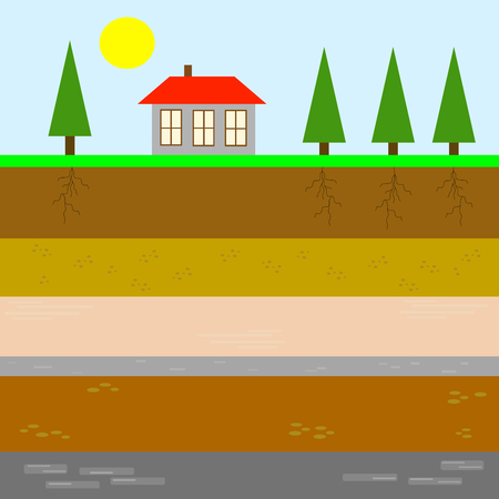 sedimentary: Terrestrial stratigraphy Illustration