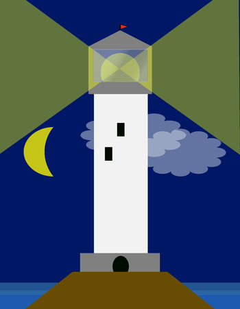 lighthouse at night: A lighthouse in the night