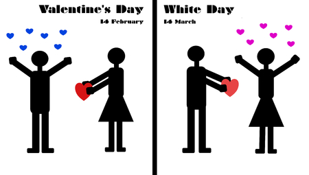 asian wedding couple: Valentines Day and White Day