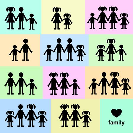 hetero: Families Illustration