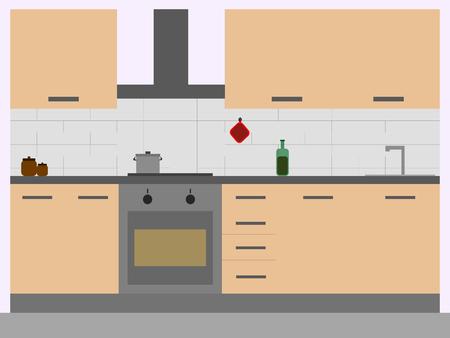 modern kitchen: A modern pale pink kitchen