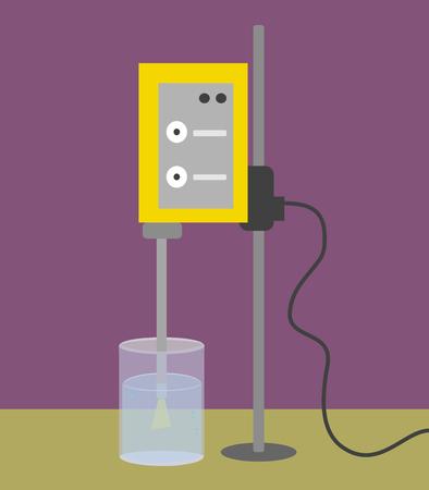 超音波発生装置: 調理のための新しい近代的なシステム  イラスト・ベクター素材