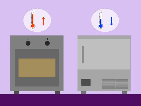 対オーブン低温ブラスト: 低温対暖かい調理用  イラスト・ベクター素材