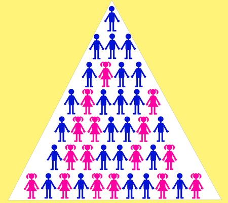 labor policy: Gender discrimination in professional career Illustration