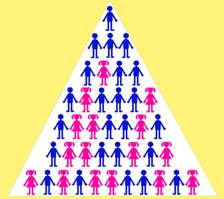 Gender discrimination in professional career Illustration