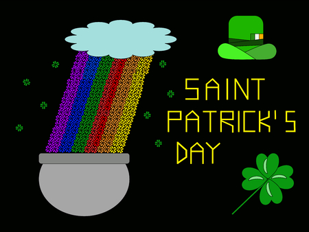 patron saint of ireland: Saint Patricks Day (first generation of video game consoles style)