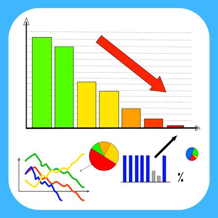 Negative trend: market crisis Illustration