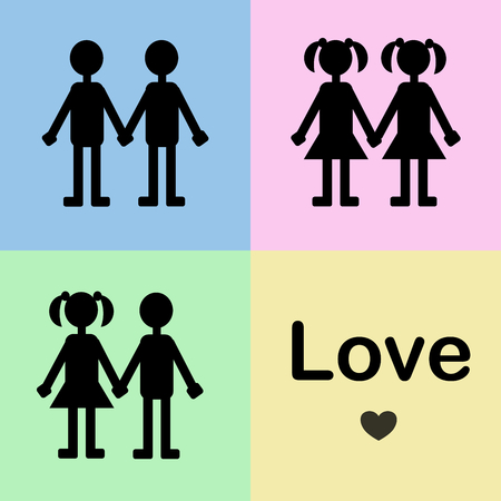 Love has no sex: couple of people in love