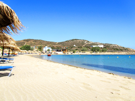 Manganari beach, Ios island, Cyclades, Greece Stock Photo - 84572421