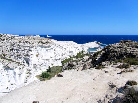 Sarakiniko Beach, Milos island, Greece Stock Photo