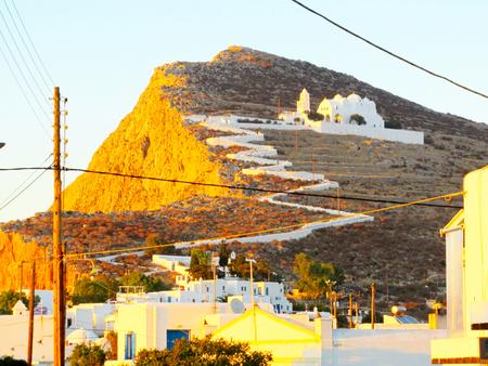 The church of Hora, Folegandros island, Greece