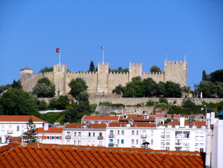 SÃ £ o Jorge Castle, Lisbon, Portugal Editorial