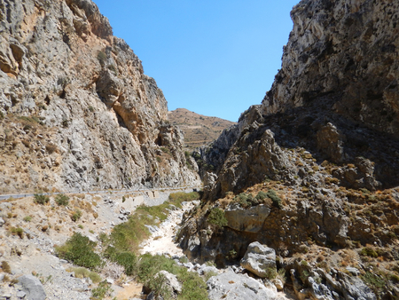 A gorge in Crete island, Greece