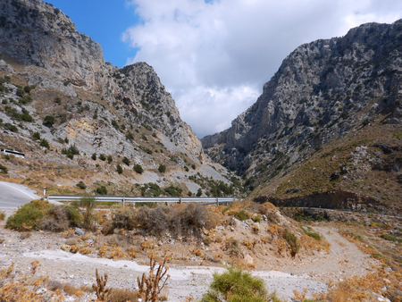 A route into the gorge in a cloudy day, Crete, Greece