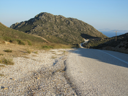 A road in Ios, Greece