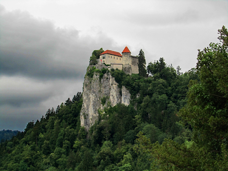 Bled Castle near the lake, Slovenia