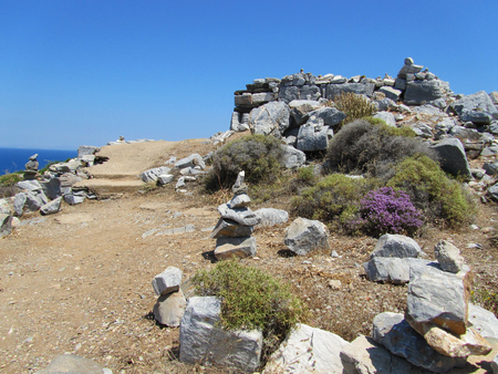 Tomb of Homer, particular, Ios, Cyclades islands, Greece