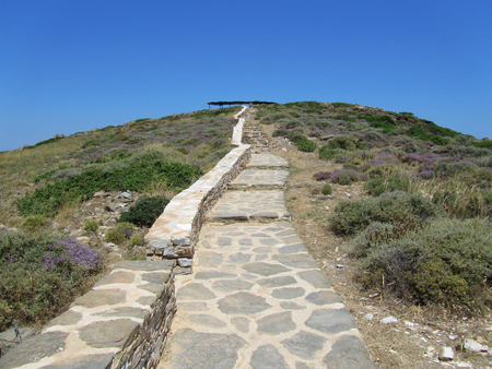 To the Tomb of Homer, Ios, Cyclades islands, Greece