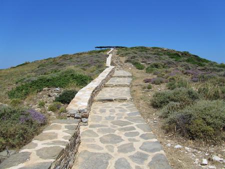 To the Tomb of Homer, Ios, Cyclades islands, Greece Фото со стока - 92687240