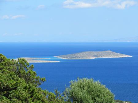 A little island near Antiparos, Cyclades, Greece Stock Photo