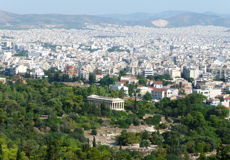 View of Athens, Greece Stock Photo