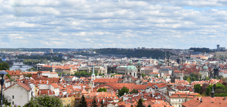 The view of the city of Prague in Czech Republic in a sunny day. Stock Photo - 93864923