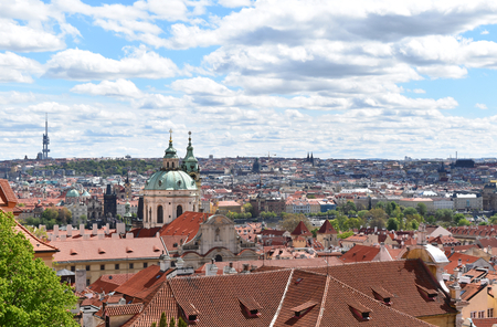 The view of the city of Prague in Czech Republic in a sunny day. Stock Photo - 93848880