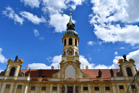 Convent of Loreto in Prague in Czech Republic in a sunny day with blue sky