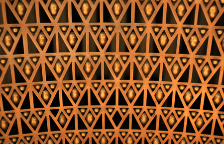 Geometric background orange and black. Stock Photo - 94105454