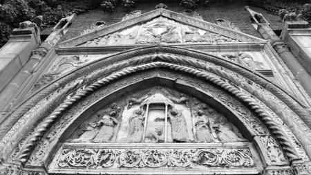 The Church of Saint John Evangelist main entrance, Ravenna, Italy