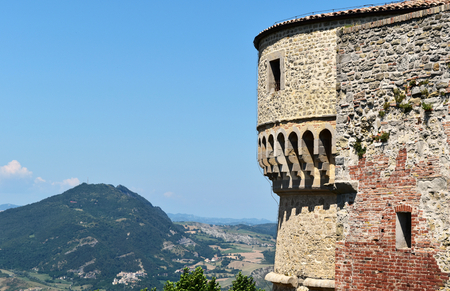 View from the Fortress of San Leo, San Leo, Italy Editorial