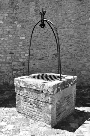 An old stone well