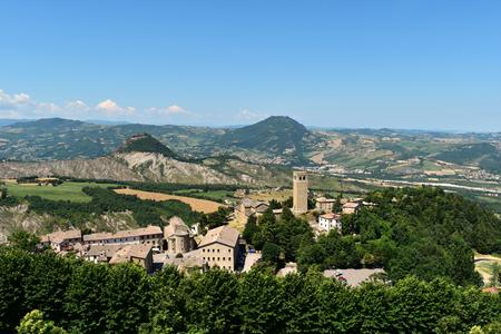 View of San Leo, Italy Stock Photo