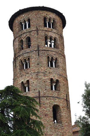 The tower of the Basilica of Saint Apollinare in Classe, Classe (Ravenna), Italy