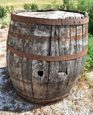 A very old barrel