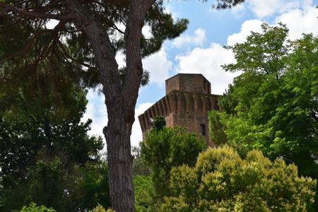 The tower of Oriolo dei Fichi, hamlet of Faenza, Italy