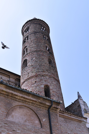 A ancient tower in Ravenna, Italy Stock Photo