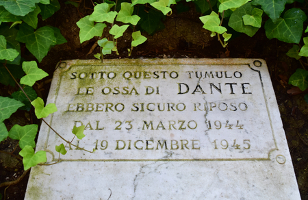 Temporary Dantes Tomb during Second World War, Ravenna, Italy