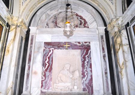 Inside Dantes Mausoleum, Ravenna, Italy