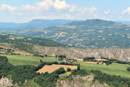 The Valmarecchia landscape, Italy.